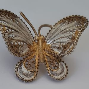 Vintage pin/pendant butterfly